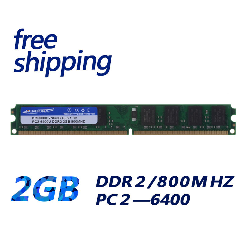 KEMBONA Brand new sealed ddr2 800 2gb ddr memory ram PC 6400 ,compatible with 667Mhz 533MHZ work on all motherboard kembona full tested 128mb 8 pc6400 longdimm pc desktop ddr2 2gb ddr2 2g 800 mhz ram compatible all motherboards free shipping