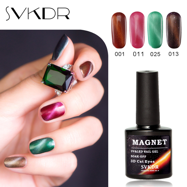 SVKDR 10ml Cat Eyes Gel Polish 3D Magnetic Nail Polish Magnet Gel ...