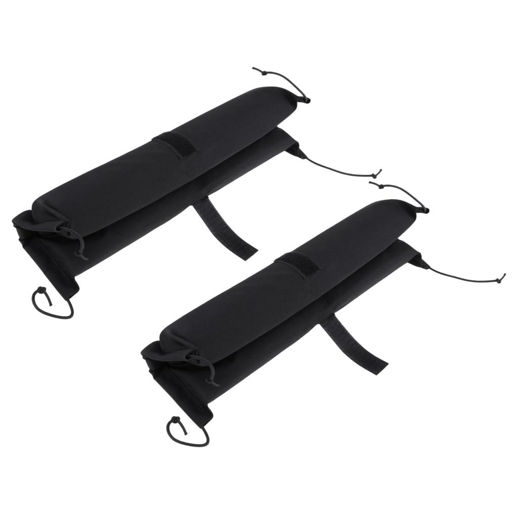 2 Pieces Heavy Duty Kayak Canoe Surfboard SUP Car Roof Top Bar Rack Pads & 2 Tie Down Strap Belt Webbing