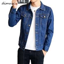 DIMUSI Spring Autumn Mens Denim Jacket Trendy Fashion Bomber Thin Ripped Male Cowboy Jeans jackets 4XL,TA341