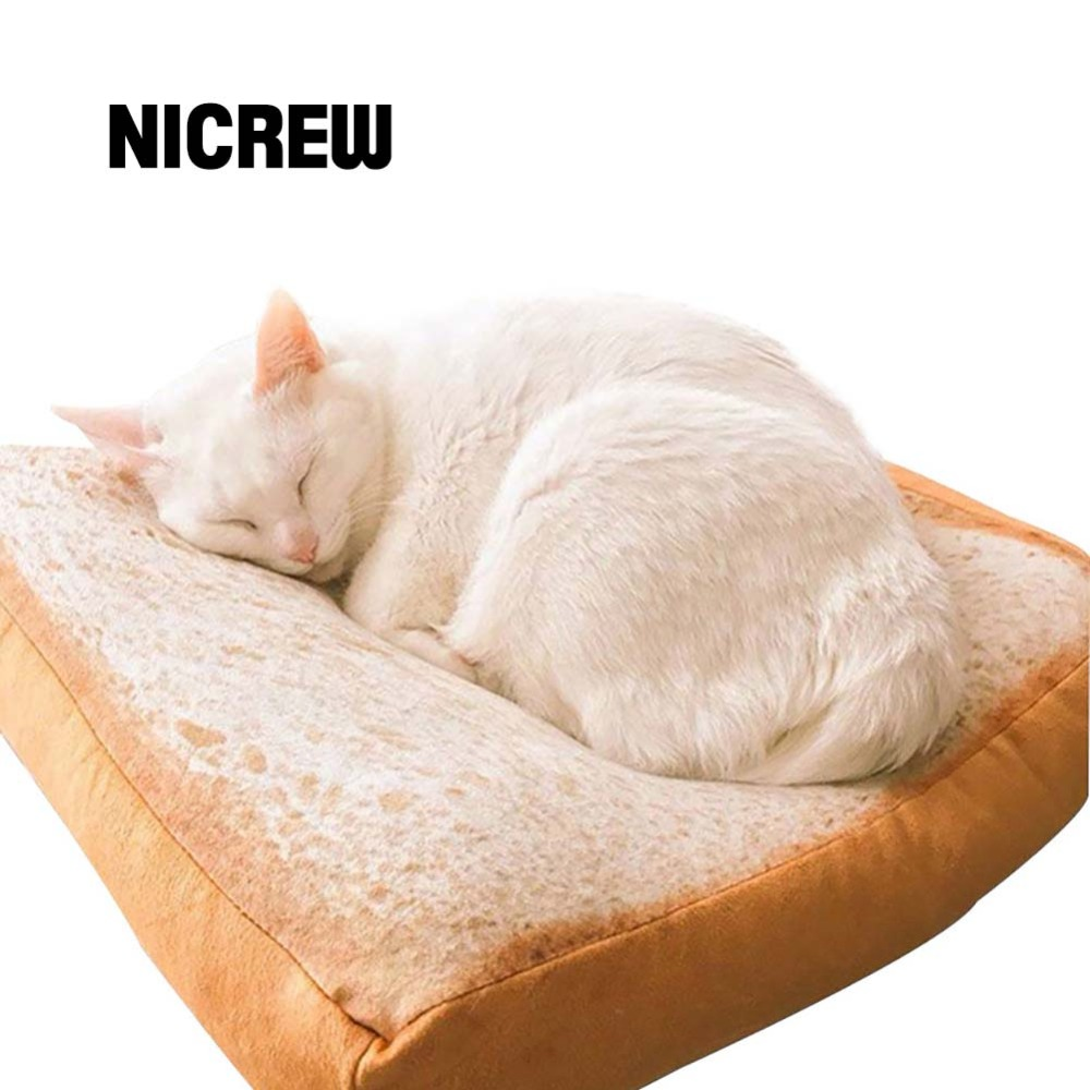 nicrew toast bread cats pets mats warm mattress bed for cats dogs