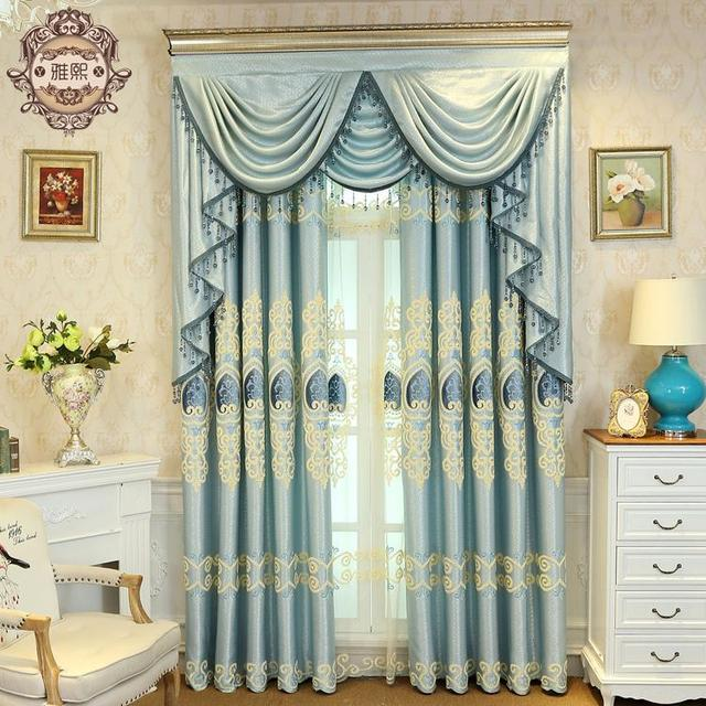 Aliexpress.com : Buy Blue Style Jacquard Chenille Embroidery ...