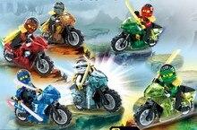 Бесплатная Доставка Горячей Tornado Мотоциклы Кай Ллойд/Nya 6 шт./лот Строительные Блоки Модели Кирпичи Игрушки