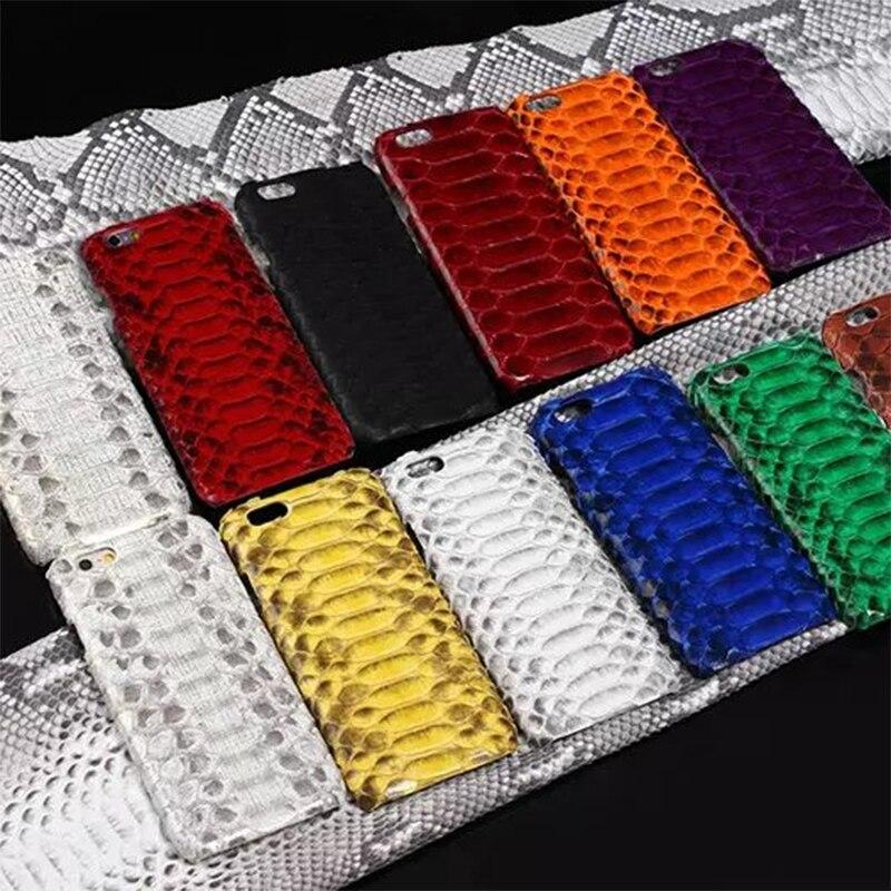 Роскошные Боа из кожи питона кожа назад телефон чехол для Apple iPhone 6 6 S 7 Plus реального Боа Python Змея защитный крышка <font><b>i8</b></font> x