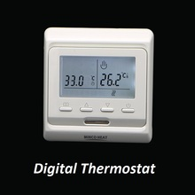220 فولت للبرمجة الكهربائية متحكم في درجة الحرارة ترموستات رقمي للتدفئة الأرضية الكهربائية