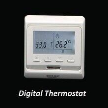 Contrôleur de température électrique, 220 V, Thermostat numérique pour le chauffage au sol électrique