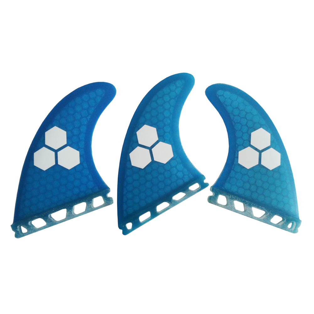 Surf Future Blue Honeycomb Fin M Size Surfboard Fin Masa Depan Basic Tri Fin set Free Shipping