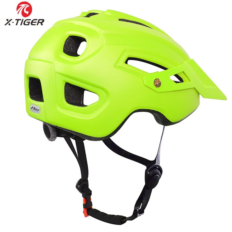 X-TIGER TRAIL XC Cycling Helmet With Hat EPS+PC Cover MTB Bike Helmet Integrally-mold Cycling Mountain Bicycle Helmet