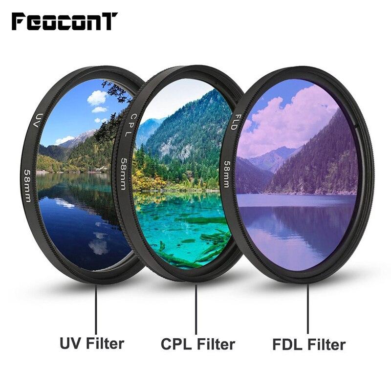 Camera Filter UV CPL FLD 49mm 52mm 58mm Light Filtre For Nikon