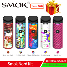 Newest Vape Smok Nord Pod Starter Kit built-in 1100mAh 3ML Cartridge fit Nord coil Electronic Cigarette Pod Vape Kit vs infinix pod system smok nord pod vape kit with 1100mah battery 3ml cartridge mesh coil electronic cigarette vape pod kit vs smok novo