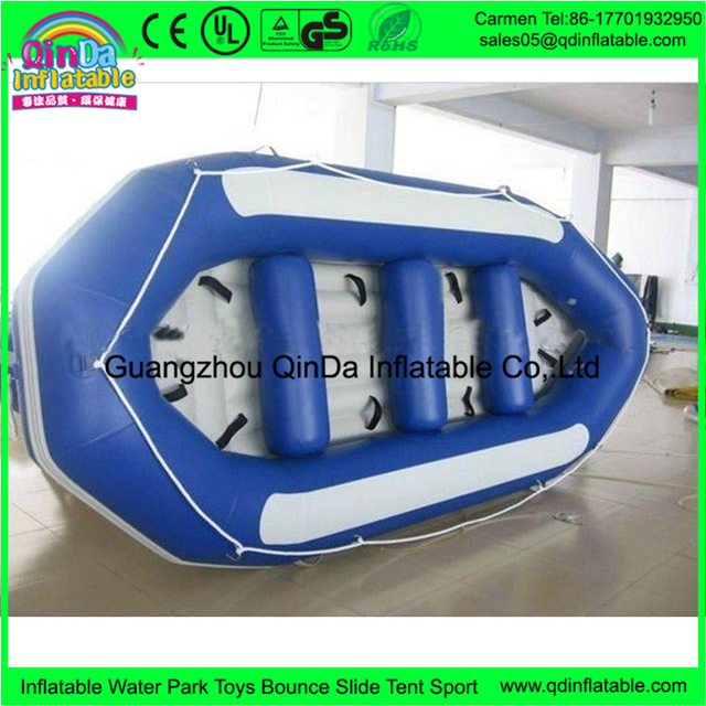 New design blow up inflatable rubber boat with inflatable bottom