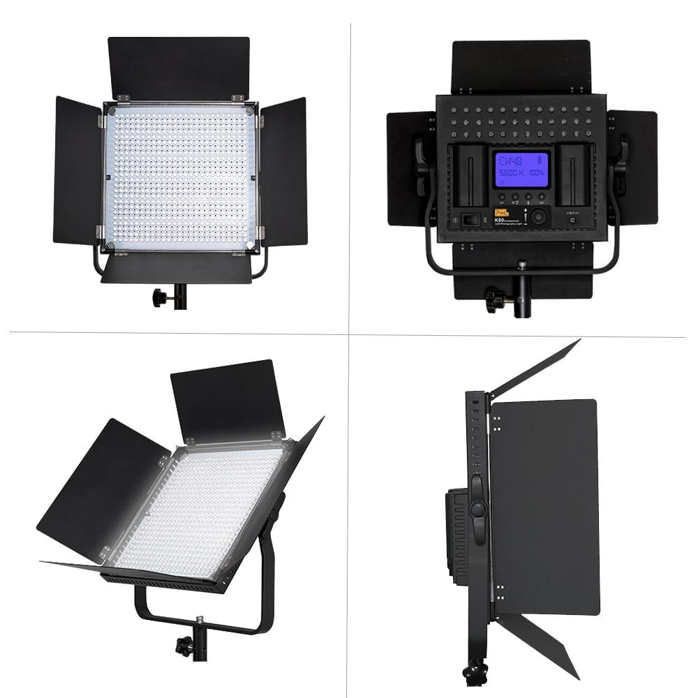 Pixel K80 Bezdrátové LED Video Svítidlo 5600K s vestavěným 2.4G - Videokamery a fotoaparáty - Fotografie 2