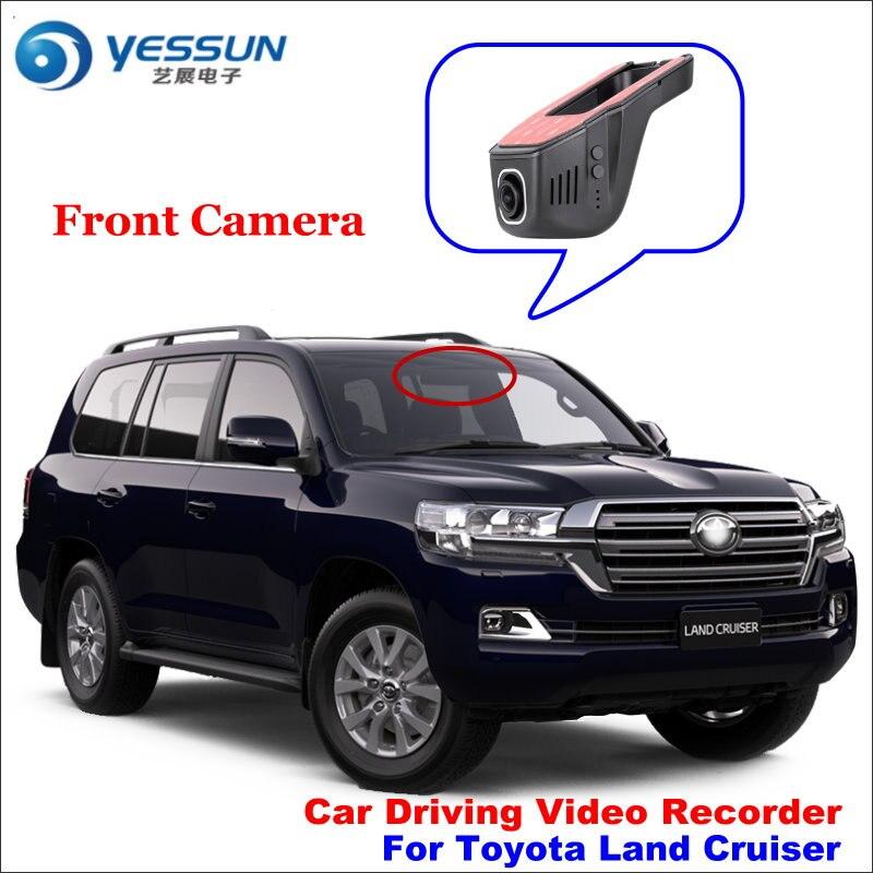 Enregistreur vidéo de conduite de voiture de YESSUN DVR pour la caméra avant de croiseur de terre de Toyota prise automatique de came de tableau de bord OEM 1080 P application de téléphone de WIFI