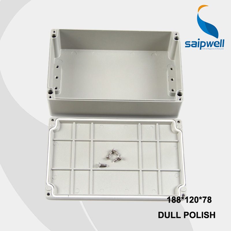 188*120*78mm Size Industrial Waterproof Aluminium Box / Electrical Aluminium Enclosure With CE,ROHS free shipping 1piece lot top quality 100% aluminium material waterproof ip67 standard aluminium electric box 188 120 78mm