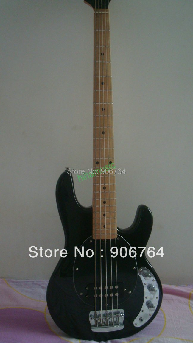 new musicman 5 strings stingray electric bass guitar black free shipping music man high quality. Black Bedroom Furniture Sets. Home Design Ideas