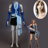 Athemis Women Dress Of Final Fantasy XII Yuna Lenne Song Halloween Blue Cosplay Costume Custom Made