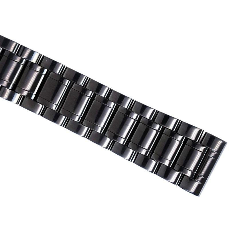 Correas de reloj de 24 mm Correa de reloj de acero inoxidable negro - Accesorios para relojes - foto 6
