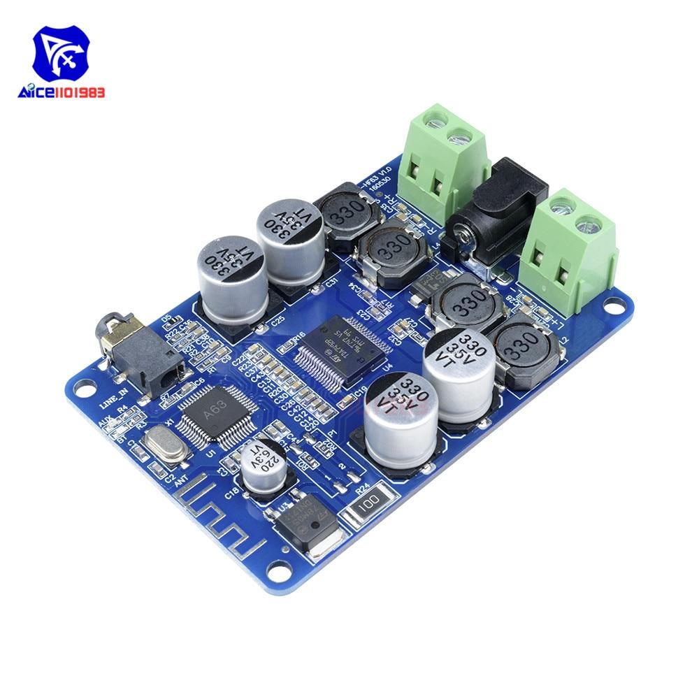 TDA7492P Bluetooth 4,0 V4.0 V2.1 receptor de Audio amplificador Placa de módulo de interfaz AUX 2*25 W coche altavoz AUX interfaz