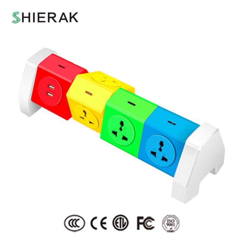 цена на SHIERAK Creative New Arrival Universal Socket With 7 Outlets 2 USB Ports 5V 2.1A Adapter 110-250V 10A Cable Length 1.8m Home