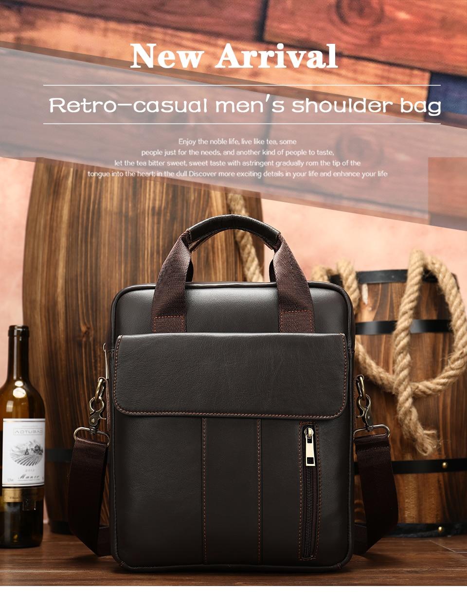 HTB1PBiWbRGw3KVjSZFwq6zQ2FXaA MVA genuine leather men's bag messenger bag men leather crossbody bags for men handbag business men's laptop/shoulder bag 8568