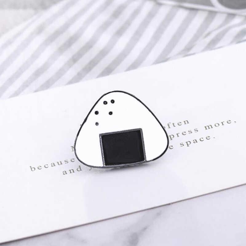 Jepang Beras Bola Bros Lucu Kartun Masakan Jepang Yang Lezat Sushi Enamel Pin Lapel Ransel Topi Lencana Anak-anak Perhiasan Hadiah