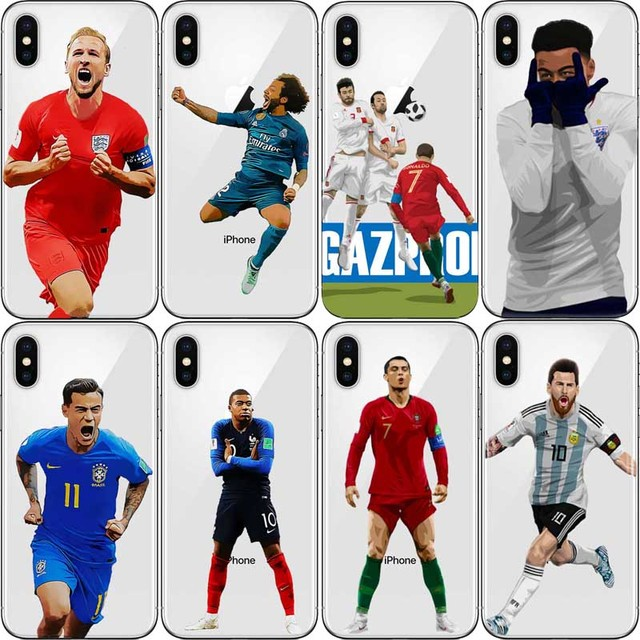 Us 1 47 26 Off Football Star Leo Messi Ronaldo Celebration Kane Mbappe Phone Cases For Iphone 5 Se 6 6plus 7 X Xs Xr Max10 Hard Plastic Cover In
