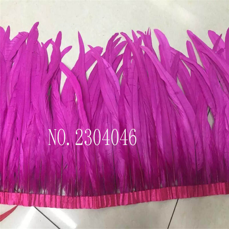 1 meter natural natural rooster tail hair dye mei red 30-35 cm (12-14 inches) feather cloth DIY decorative arts and crafts