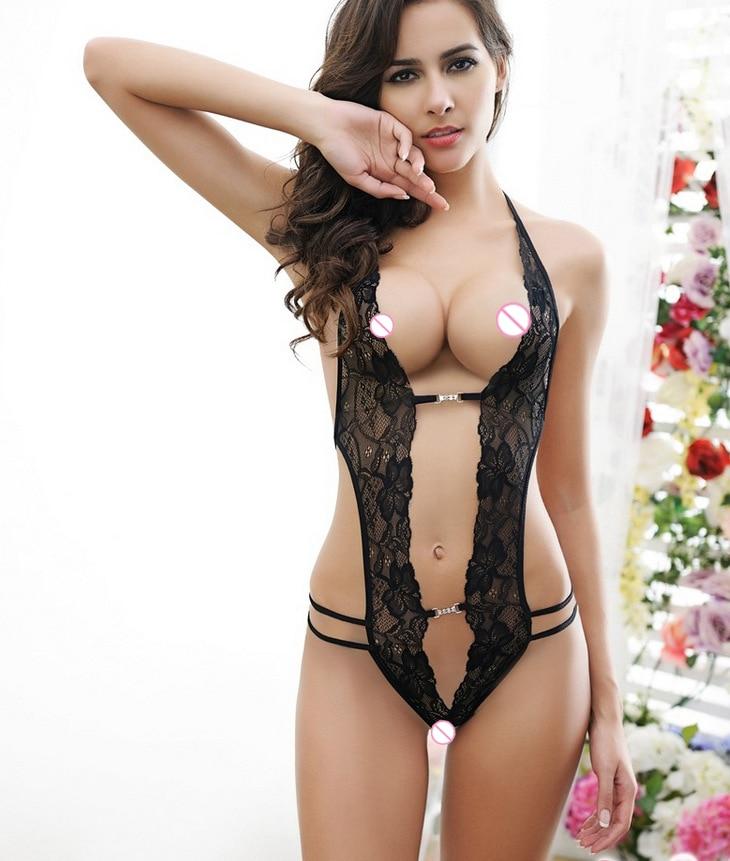 2017 6XL Plus Size Sexy Lingerie Hot Erotic Women See Through Lace Nightdress Underwear Long Sexy Nightgown Sleepwear Women