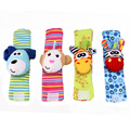 Newborn Wrist band animal watch strap wrist band socks ringing bell with bell toys baby to accompany play with free shipping