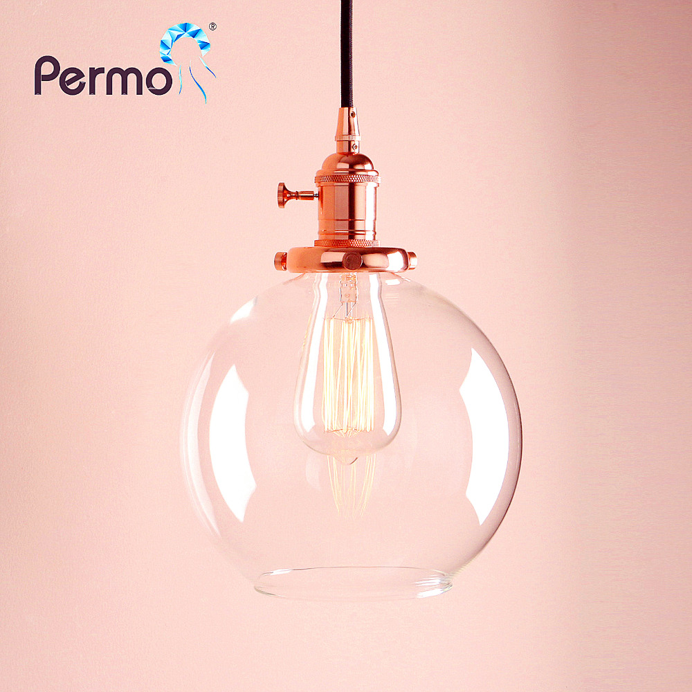 PERMO French Style Glass Pendant Lights Industrial Pendant Ceiling Lamps Modern Loft Copper Hanglamp Luminaire Lights FixturePERMO French Style Glass Pendant Lights Industrial Pendant Ceiling Lamps Modern Loft Copper Hanglamp Luminaire Lights Fixture