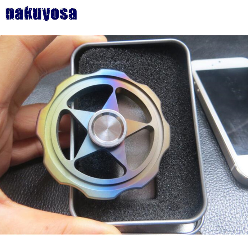rainbow color star Titanium alloy TC4 Bearing R188 Tri Spinner Fidget Toy EDC Hand Spinner for