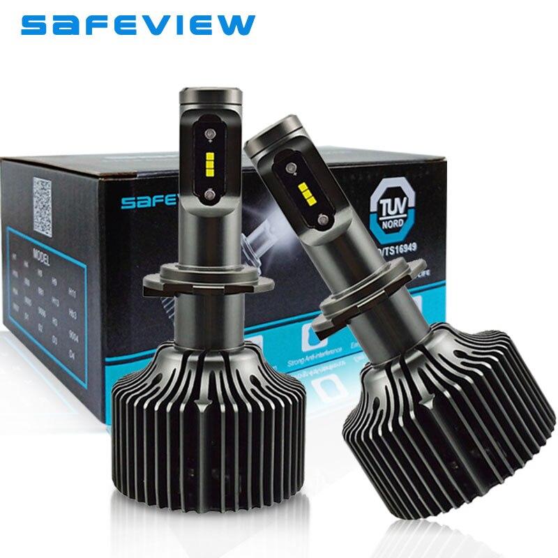 saFEVIEW 2 Pcs H7 LED luces led para auto H4 Hi/Lo 9003 hb2 led Replace Car Headlight bulbs 30W 8400LM Auto Fog Lights 6000K 12V