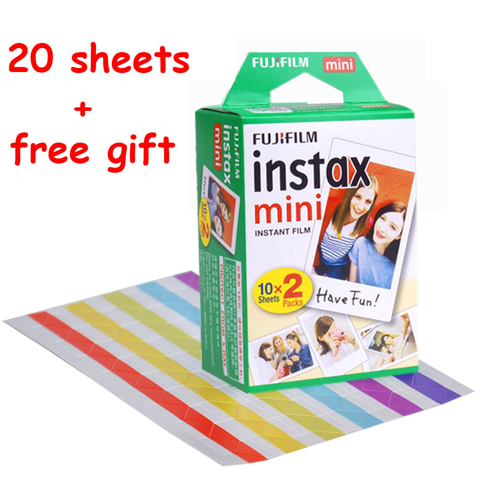 20 Sheets Fuji Fujifilm Instax Mini 9 Film for Instant Camera Mini 8 7s 25 50s 90 White Edge Photo Paper 3 Inch Mini Film freeshipping 500 pcs fujifilm instax mini 8 film 20x25 sheets for camera instant mini 7s 25 50s 90 photo paper with retail box