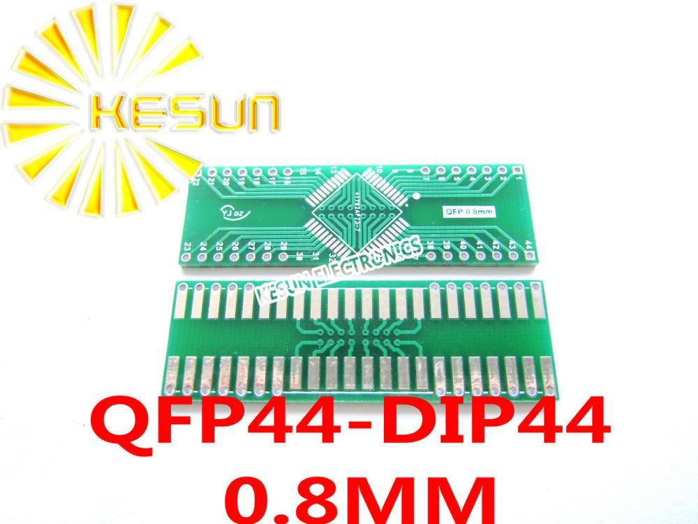 100PCS QFP44 turn DIP44 0.8MM Pitch IC adapter Socket Adapter plate PCB LQFP44