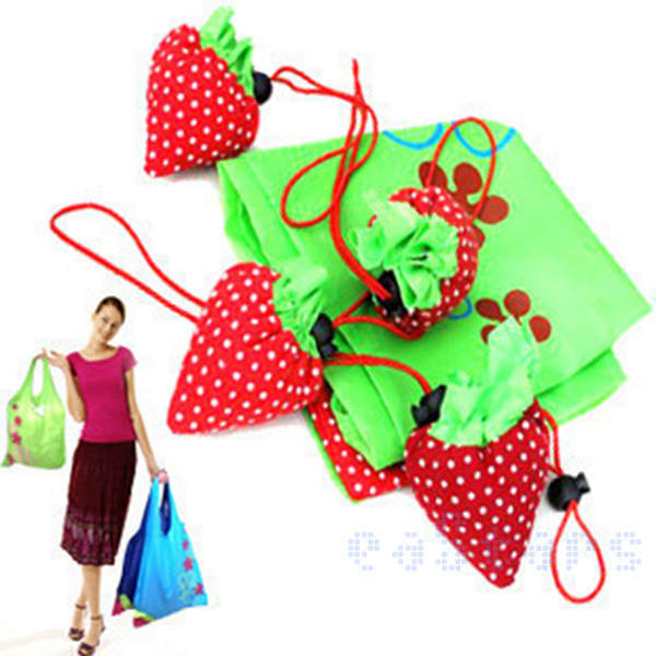 e06fddf77b6 200pcs lot Portable Cute Strawberry Bags Eco Reusable Tote Folding Foldable  Bag Free Shipping-in Storage Bags from Home   Garden on Aliexpress.com