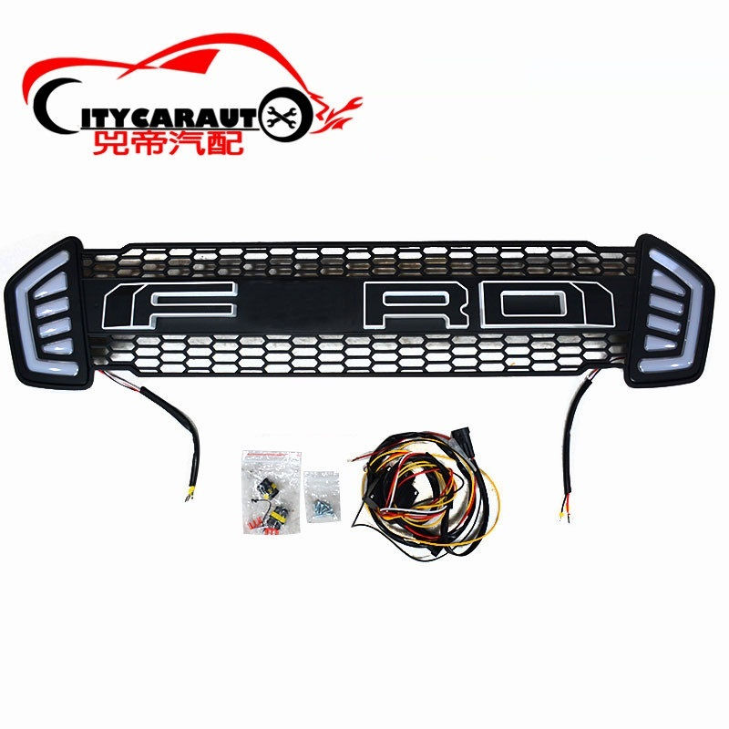 CITYCARAUTO Front raptor grill grille ABS black trims front covers Fit for Ranger T7 Txl pickup car 2015-2017 with LED DRL txl желтый