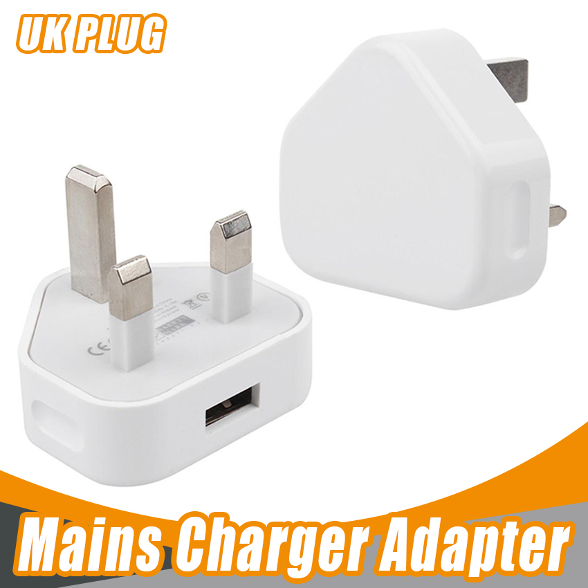 US $157.13 |White UK Plug USB Charger AC Wall charger usb Power Adapter Charger Original quality for iPhone33GS44S5678 100pcslot|Chargers|