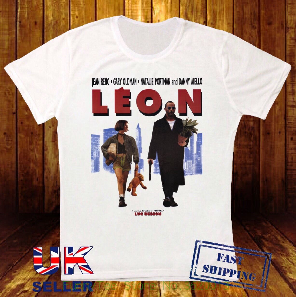 Leon The Professional Poster Jean Reno Retro Vintage Hipster Unisex T Shirt 771