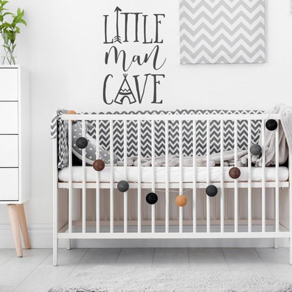 Baby Boy Nursery Wall Decals: Little Man Cave Nursery Decal Baby Boy Nursery Kids Room