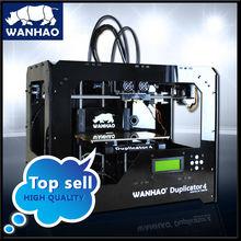 Abs ноак доступны FDM стиль бытовой дешевое самых продаваемых быстрого прототипирования двойного экструдера wanhao 3D принтер