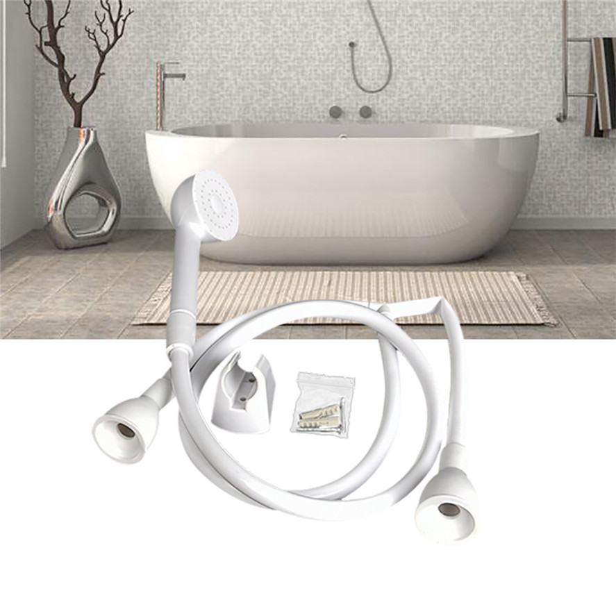 New Bathroom Faucet Extender 1PC Shower Head Double Tap Push On Bath Shower Head And Hose Hairdresser Shampoo 0604#30