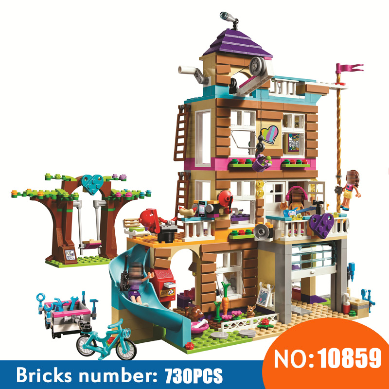 NEW 10859 Toys 808Pcs Girls Friends Series The Friendship House Set Building Blocks Bricks Kids Gifts Compatible With 41340 2017 new aiboully 10170 friends series girls housework time panorama minis set building blocks girl toys compatible with 3185