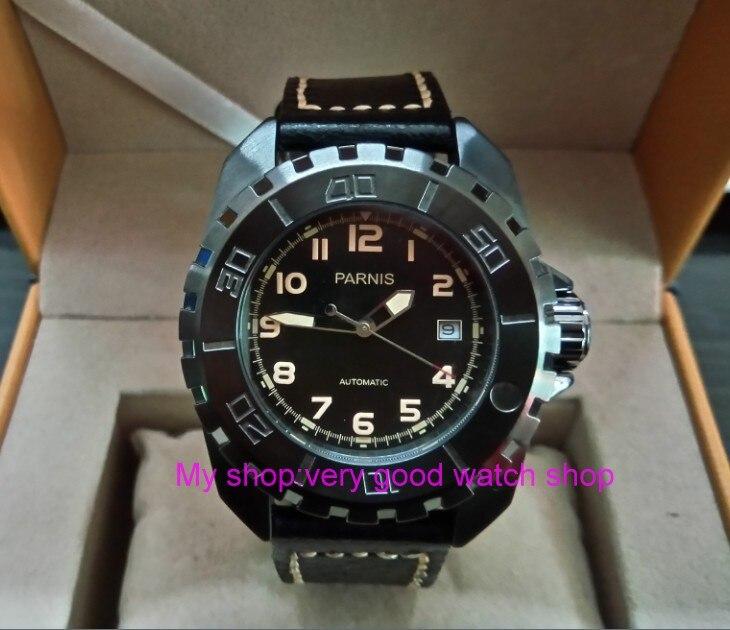 44MM Parnis Japan's Automatic Self-Wind Mechanical movement Men's watch Sapphire crystal luminous luxury Mechanical watches 115 пижама с шортами с рисунком