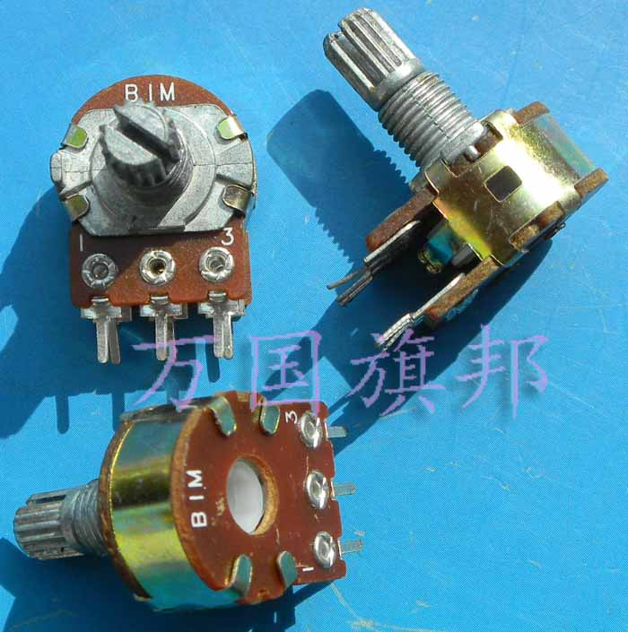 Free Delivery. WH148 potentiometer B1M double six feet short shank
