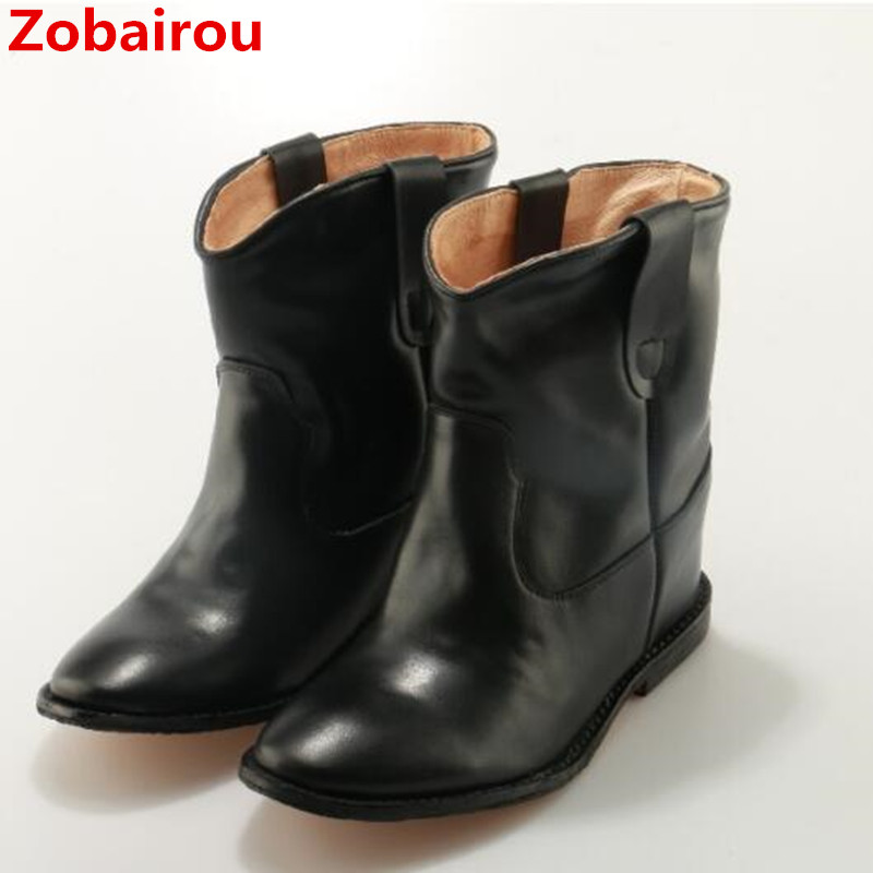 Zobairou bota feminina black snow boots ankle boots for women flats rain boots ladies shoes fashion cowboy boots woman shoes zobairou hot design suede ankle riding boots women western cowboy shoes woman fashion real genuine leather dicker boots 34 41
