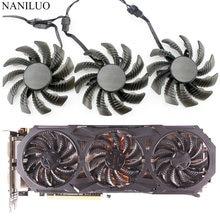 75MM PLD08010S12HH T128010SU Para Gigabyte GTX960 GTX970 GTX980 980TI 760 670 580 R9 290X GTX Placa Gráfica Cooler Fan
