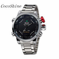 CocoShine A 711 Multi Function Quartz Digital Date Mens Military Sport Wrist LED Watch