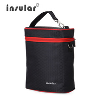 High Quality 420D Nylon Baby Feeding Bottle Insulation Bags Colorful Thermal Bottle Bags Cooler Bags