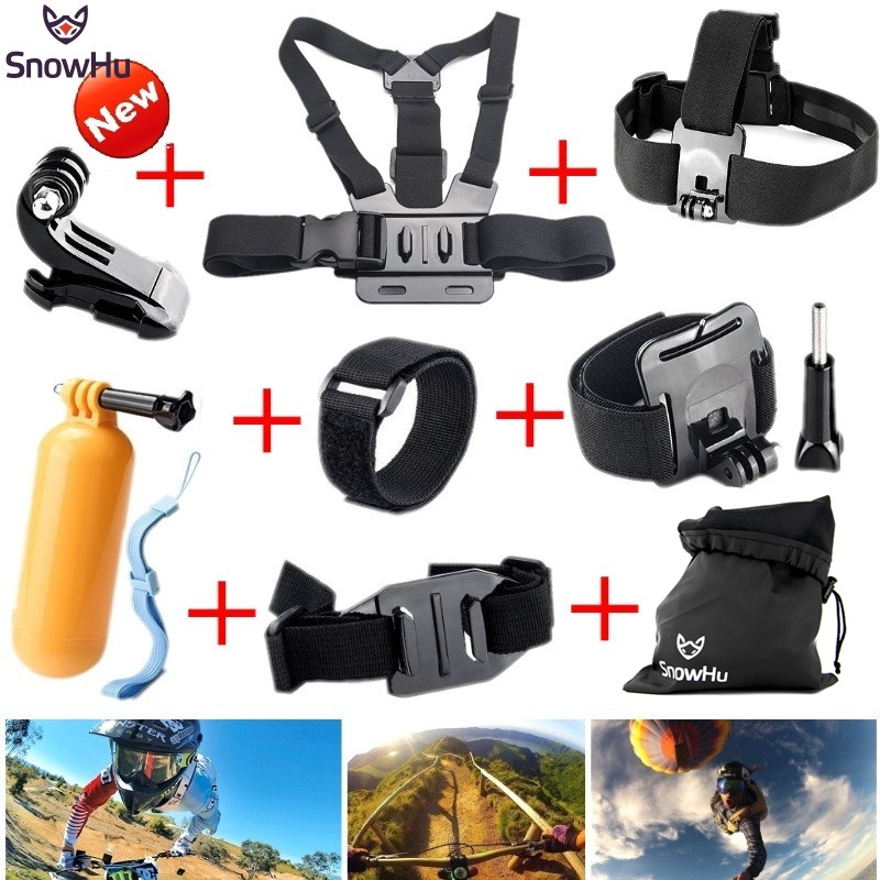 SnowHu For Gopro Hero 5 Accessories Monopod Mount for go pro hero 5 4 3+ accessories for xiaomi for yi 4k for sjcam sj4000 GS22