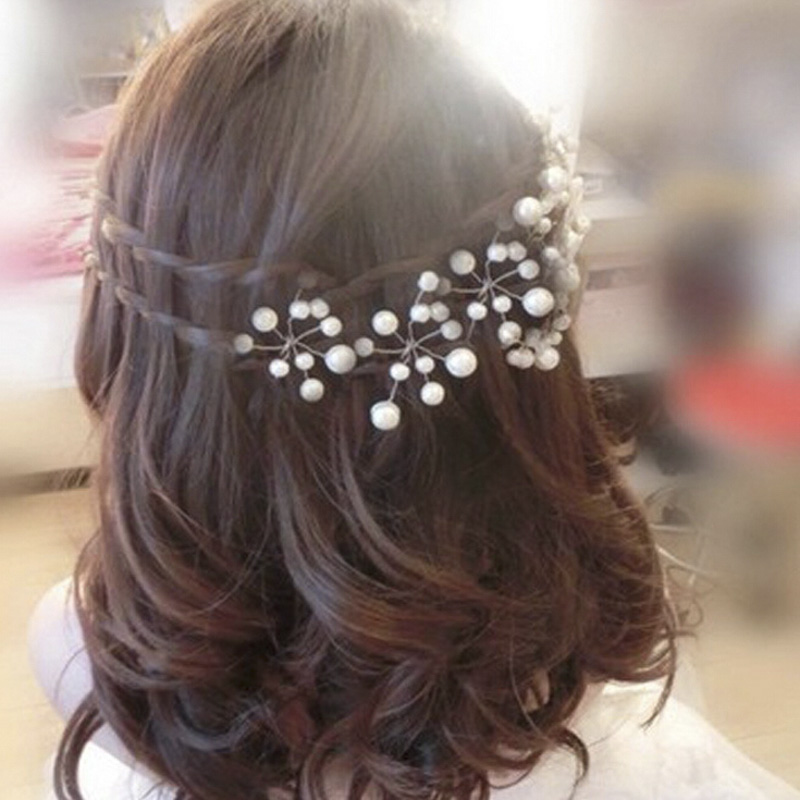 Crystal Hair Clips Women Fashion Styles Hairpin Trendy Wedding Bridal Pearl Hair Pins Bridesmaid Jewelry 1PC